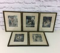 Lot Of 5 Erotic Prints By Louis Chalon For Illustrated Publishing Of De Cameron.