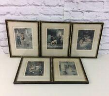 LOTTO di 5 stampe erotiche da Louis Chalon per la pubblicazione illustrata di De Cameron.