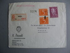 NETHERLANDS, cover 1954, mixed franking ao Van Gogh, painter