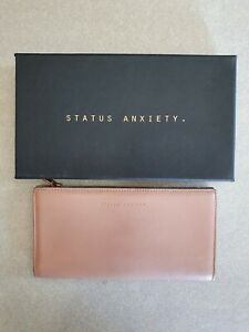 Status Anxiety *In The Beginning* Dusty Pink Bifold Wallet Genuine Leather