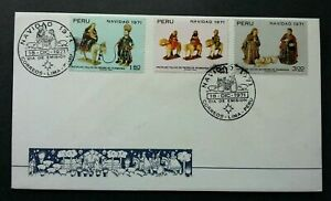 [SJ] Peru Christmas Navidad 1971 (stamp FDC)