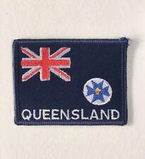 Vintage Queensland Souvenir Patch Australian Australia Embroidered Retro