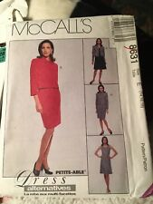 Mccalls patterns 8632, size E, 14 to 18. Pattern for dress, skirt and jacket.