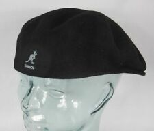Kangol Wool 504 Flatcap Black Wool Hat Cap Pepe Flat Cap New