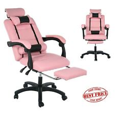 Pu Leather High Back Home Office Chair Executive Task Ergonomic Computer Desk