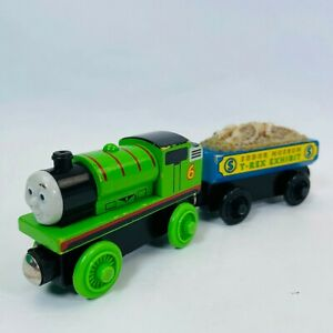 PERCY and THE T-REX FOSSIL  CAR THOMAS & Friends Wooden Railway Train Engine
