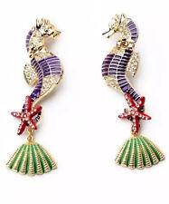 Drop Dangle Stud long Earrings 64 1 Pair Elegant Purple Crystal Rhinestone Ear
