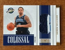 2009-10 National Treasures DERON WILLIAMS Colossal Materials Prime Patch #D 2/5