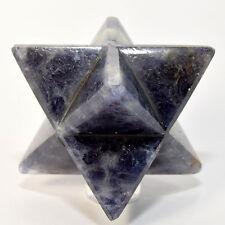 "2.5"" Natural Iolite 8 Point Merkaba Star ""Water Sapphire"" Gemstone Crystal India"