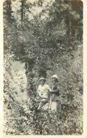 Butte Women Waterfall California Circa 1920s Richardson Springs Postcard 9869
