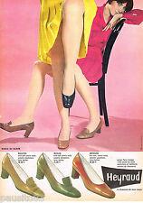 PUBLICITE ADVERTISING 065  1968   HEYRAUD   chaussures
