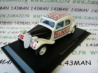 TRA42C voiture 1/43 atlas traction NOREV :  traction 11 B cascadeurs 1955 sunny