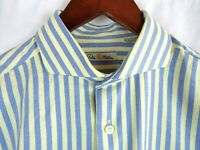 Peter Millar Mens Long Sleeve Button Front Dress Shirt Striped Medium Cotton
