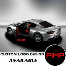 2x Logo Red Pimp Laser Projector Car Door Step Led Welcome Ghost Shadow Light