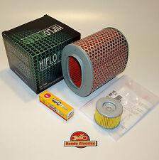 Honda XBR500 GB500 Engine Service Kit - Oil Air Filters Spark Plug. KIT060