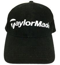 TaylorMade Golf Hat Clubs Cap Logo Tour Ball Resort Baseball Strap Back Black