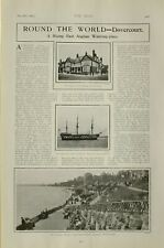 1903 Imprimé Articles Rond Monde Britannique Empire Dovercourt Ganges