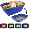 Collapsible Foldable Storage Basket with Handles For Laundry Shopping Clothes
