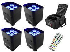 4 x Chauvet libertà PAR QUAD 4 IP LED Lampade A batteria Wireless DMX
