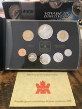 2000 Canadian Sterling Silver Proof Set, Voyage of Discovery, mint pkg w/ COA