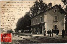 CPA CHATEAUNEUF-sur-CHER - La Gare (211252)