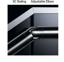 Adjustable Elbow to Suit 42.4mm Dia x2.00mm THK Stainless Steel Handrail 316