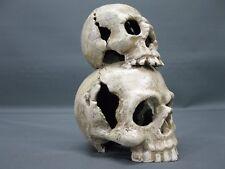 hierro fundido Cráneo de calabera Candelero 20CM DOBLE 2,2 kg