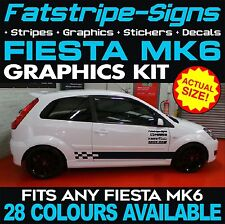 FORD FIESTA MK6 GRAPHICS DECALS STICKERS STRIPES CAR VINYL ST ZETEC 1.2 1.6 2.0