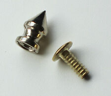 Dog Collar Spikes 1/2 Inch 1.3cm Nickel Plated 31 Sets 1310-00 Tandy Leather