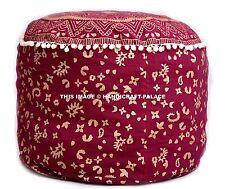 """22"""" Indian Ottoman Pouf Pouffe Cover Mandala Cotton Pouf Foot Stool Pouf Covers"""