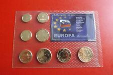 *Slowenien Euro KMS Satz  in Blister mit Gold Veredelt *(ALB-P2)