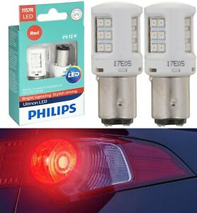 Philips Ultinon LED Light 1157 Red Two Bulbs Stop Brake Replacement Stock Lamp