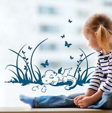 Fensterbild Kinder Drache Dino Schmetterlinge 1369
