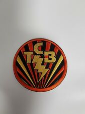 Elvis Presley Round TCB Sew / Glue on Patch