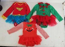 Fancy Dress Rompers X 3 12 Months Xmas Halloween New Year tutu costumes w/woman