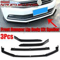 Bright Black Front Bumper Lower Lip Spoiler For VW Jetta MK6.5 2015-2018