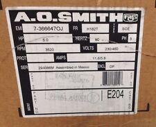~DiscountHVAC~E204-AO Smith Belt Drive Motor 5HP 60Hz 3PH 3520RPM 230/460V