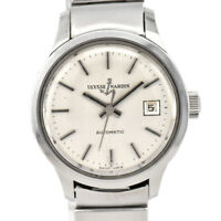 Auth ULYSSE NARDIN Date Silver Dial Automatic Women's Watch F#86564