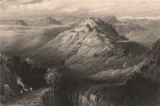 BRITISH INDIA. The Abbey and Hills from near Mussoorie, on the Yamuna 1858