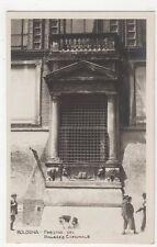 Italy, Bologna, Finestra del Palazzo Comunale RP Postcard, B252