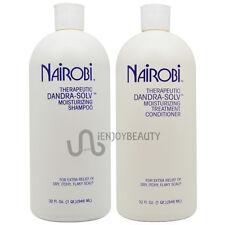 Nairobi Dandra-Solv Shampoo 32oz and Conditioner 32oz with Free Roll-on Body Oil