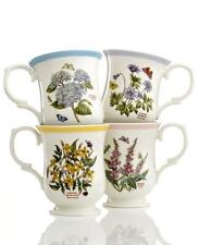 4 Portmeirion Botanic Garden Terrace Bordered Assorted Designs Footed Mugs NEW