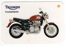 1995 Shell Abol Motos Portugese Pocket Calendar Triumph Thunderbird Motorcycle