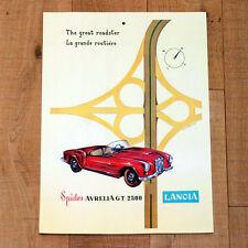 LANCIA SPIDER AURELIA G T 2500 poster manifesto affiche Pubblicità Auto Car 1955