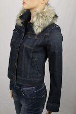 Lauren Jeans Co. Denim Jacket Detachable Faux Fur NWT M $159