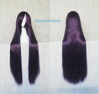 Long Hair Heat Resistant Straight 100cm Cosplay Wig 20 Color +Free wig cap
