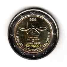 2 EURO COMMEMORATIVO BELGIO 2008 Diritti Dell'Uomo