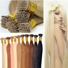 Pre Bonded Stick I Tip Grade 7A Brazilian Remy Human Hair Extensions Straight