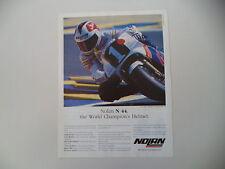advertising Pubblicità 1989 CASCO NOLAN N 44 e SITO PONS