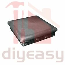 Plastic End Cap Square 100x100 mm Fence Post Tube Flat Top Black